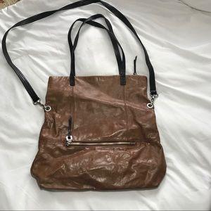 HOBO Brown Leather Foldover Bag